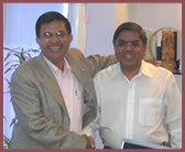 Mr. Tulsi Tanti, Chairman Suzlon and Dilip Pithadia